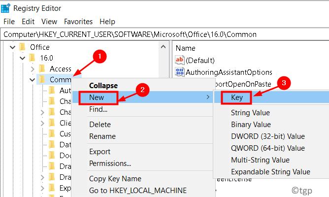 Registry Common New Create Key Open Find Min
