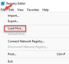 Registry Editor File Load Hive