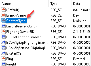 Registry Editor Navigate To Applicability Key In Local Machine Contenttype