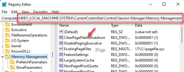 Registry Editor Navigate To Path Locate Clearpagefileatshutdown Double Click Min