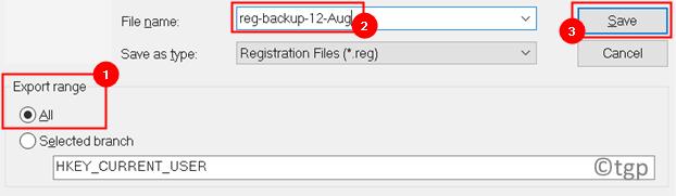 Registry Export Save Details Min