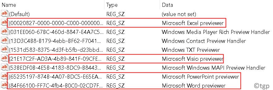 Registry String Key Value Combinations Min