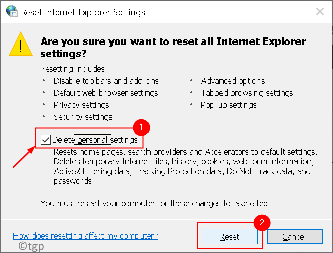 Reset Internet Explorer Settings Min