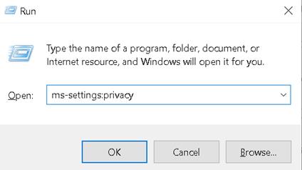 Run Privacy Settings Min