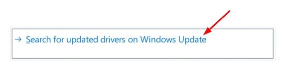 Search For Updated Drivers Windows Update Min