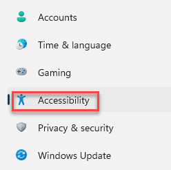 Settings Left Side Accessibility