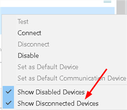 Show Disconnected Devices Min