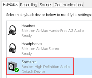 Speakers Set As Default Min