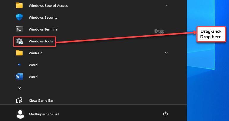 Start All Apps Windows Tools Drag And Drop On Desktop Min