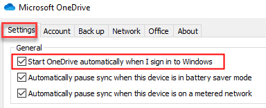Start One Drive Automatically When I Sign In