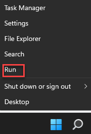 Start Right Click Run