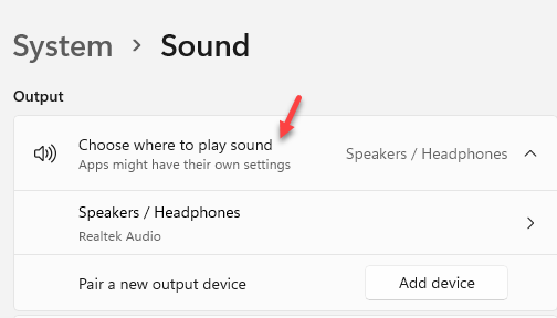 System Sound Input Choose A Device For Speaking Or Recording