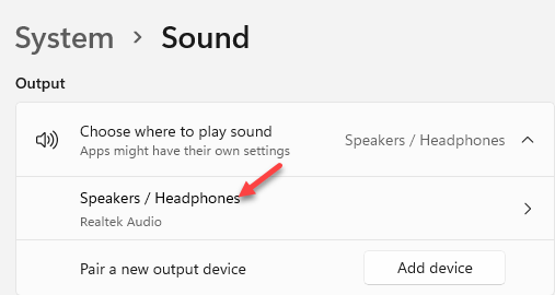 System Sound Output Choose Where To Play Sound