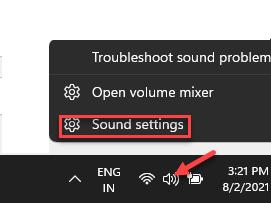 Taskbar Speaker Icon Right Click Sound Settings