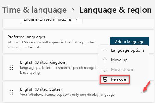 Time & Language Language & Region Preferred Language Go To Language Three Dots Remove Min