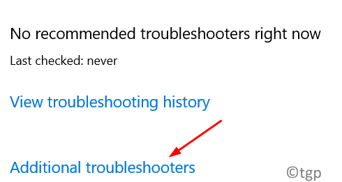Troubleshooter Additional Troubleshooters Min