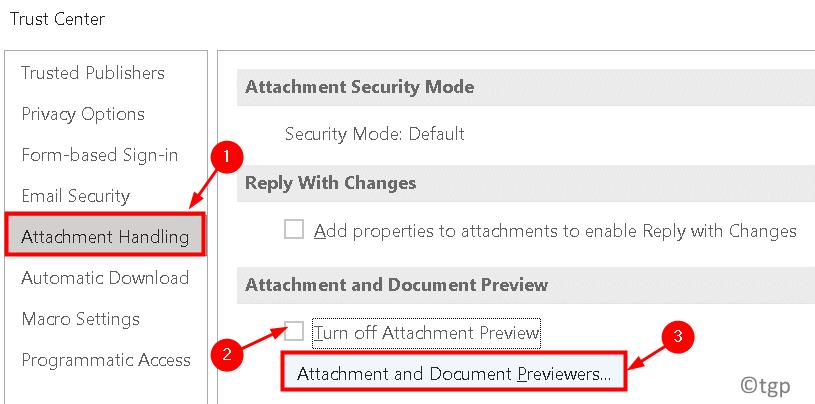 Trust Center Attachment Handling Min