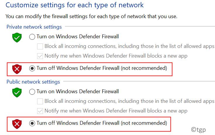 Turn Off Firewall Min