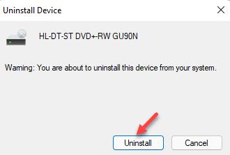 Uninstall Device Uninstall