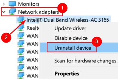 Uninstall Network Adapter Min