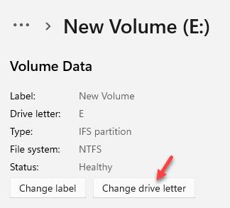 Volume Data Change Drive Letter