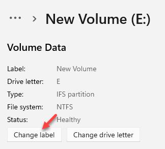 Volume Data Change Label To Change Drive Name