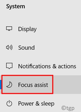 Windows Settings Focus Assist Min