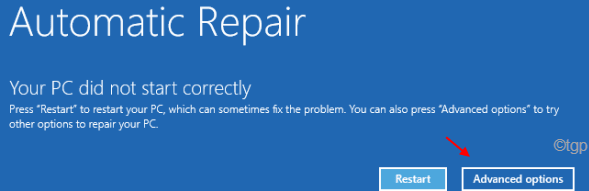 Auto Repair Advanced Options Min 1 Min