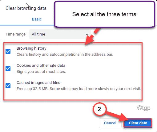 Clear Data Min Min