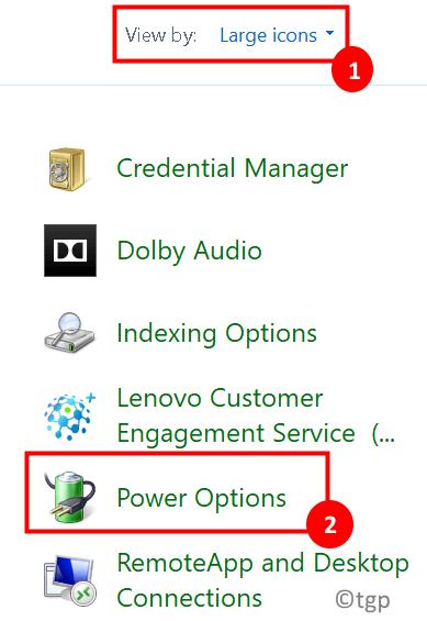 Control Panel Power Options Min