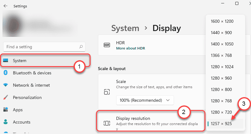 Display Resolution Min