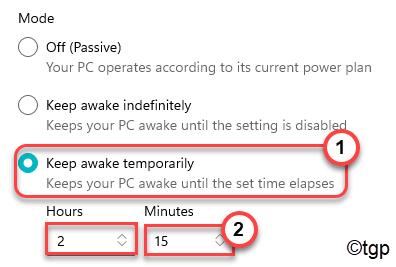 Keep Awake Temporarily Min
