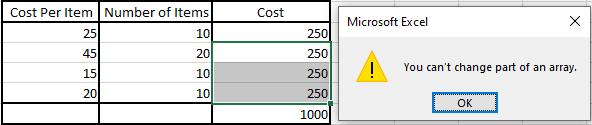 Select Multiple Rows Error