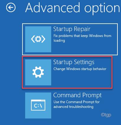 Startup Settings Re Min