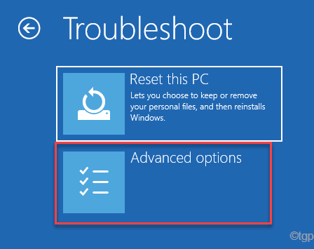 Troubleshoot Reset This Pc Advanced Options Startup Repair Min
