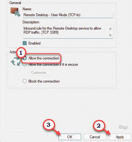 User Mode Allow Min