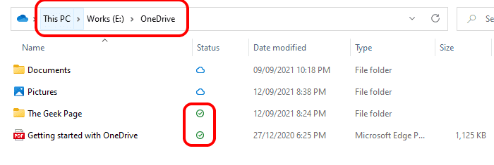 19 One Drive Synced