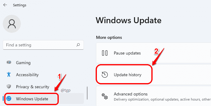 1 Windows Update History