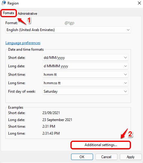 2 Additional Settings Optimized