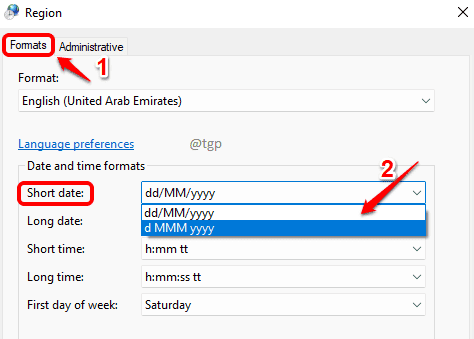 3 Choose Format Optimized