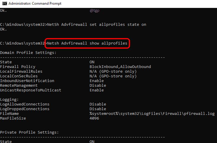 6 Firewall Status Optimized