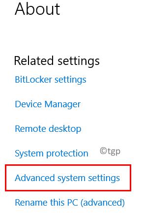 Advanced System Settings Min