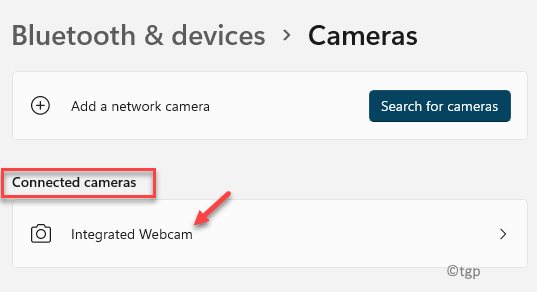 Bluetooth & Devices Cameras Connected Cameras Integrated Webcam
