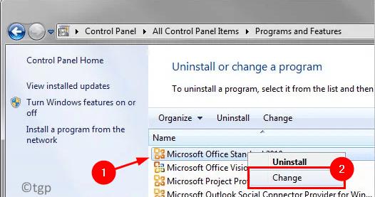 Change Office Installation Min