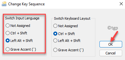 Change Key Sequence Prompt Switch The Input Language Ok