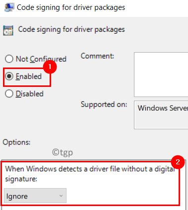 Code Signing Driver Packages Enabled Min