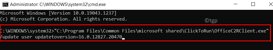 Command Prompt Rollback Outlook Min