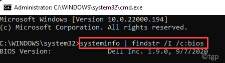 Command Prompt (admin) Run Command To Find Bios Version Enter