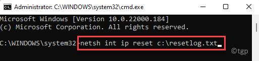 Command Prompt (admin) Reset Network Enter
