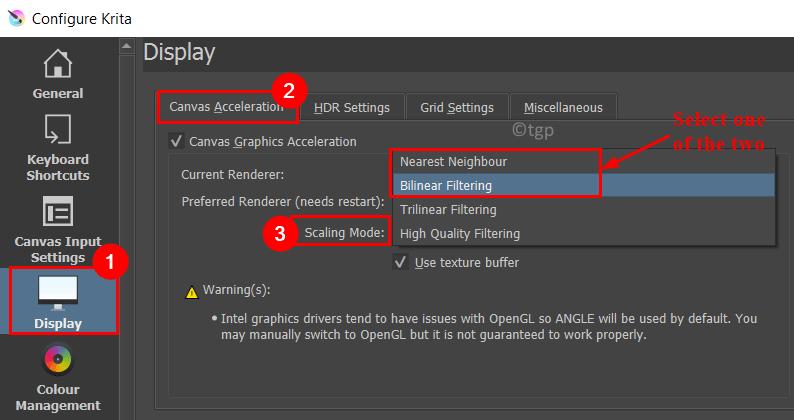 Configure Krita Display Scaling Mode Change Min
